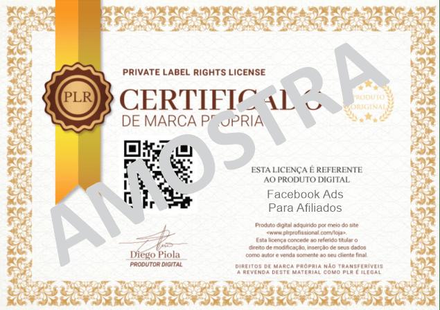 Licença PLR - Amostra Face Afiliados