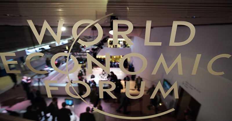 Fondo de cristal con texto de fondo economico mundial