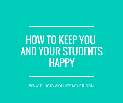 How to keep You and your studentsHappy