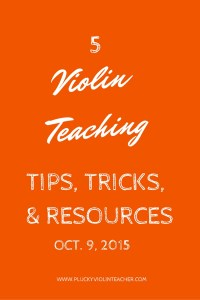 Looking for violin teaching tips, tricks, and resources?  You are in the right place!  www.pluckyviolinteacher.com