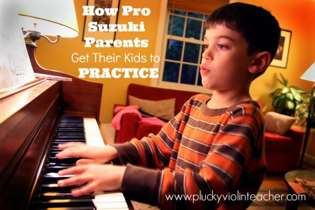 How do parents get their kids to practice for their Suzuki Violin Method lessons? Find out from pro parents in the trenches!