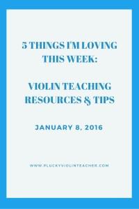 Resources for violin teachers from www.pluckyviolinteacher.com