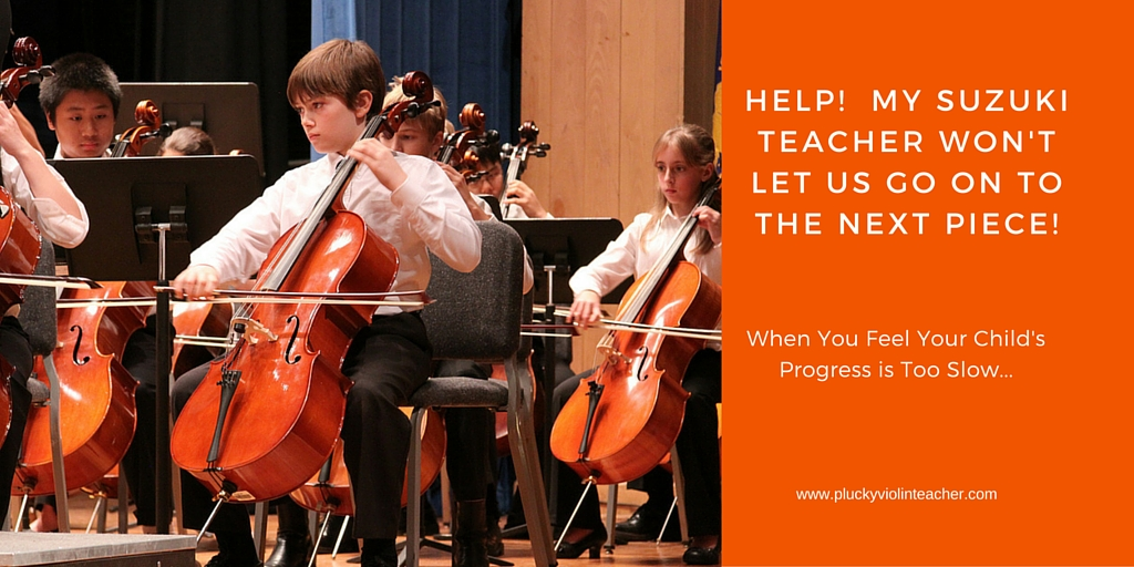 Here's a few reasons why your Suzuki teacher may be taking their time moving your child through the repertoire...
