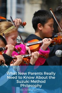 Thinking about putting your child in Suzuki violin lessons? In a nutshell, here's what you need to know about the philosophy behind the Suzuki method.