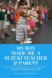 How to be successful as your child's Suzuki teacher AND parent.