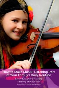 Kickstart your child's progress in their Suzuki music lessons by building a daily listening routine...