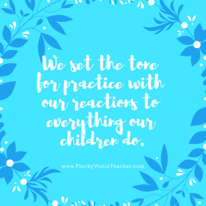 Practicing with our children can be peaceful! It's possible. But we have to bring the peace ourselves, regardless of what our children are doing. www.PluckyViolinTeacher.com