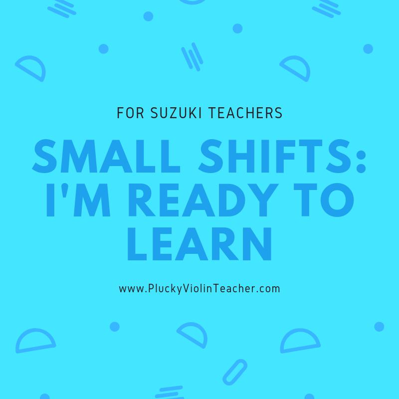Teaching techniques for Suzuki teachers...
