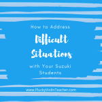 How to Address Difficult Situations with Students…