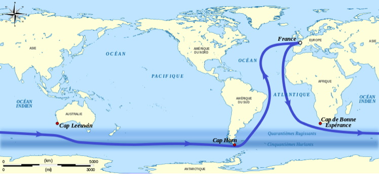 a map of the Vendee Globe route