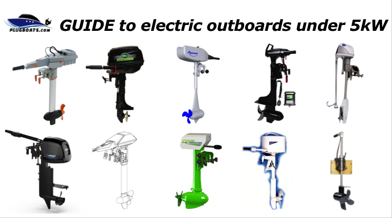 a group of electric outboard motors less than 5 kilowatts