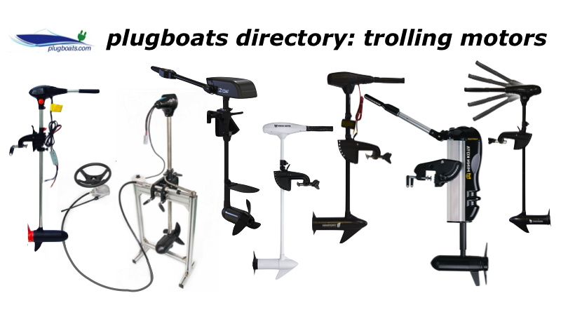 photographs of a variety of electric trolling motors
