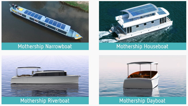 Electric boats from Mothership Marine