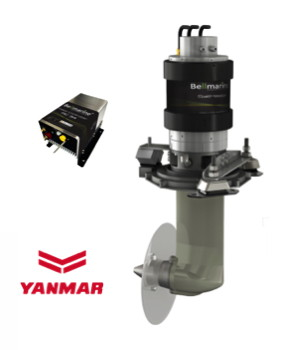 Bellmarine electirc boat motor with Yanmar drive and controller