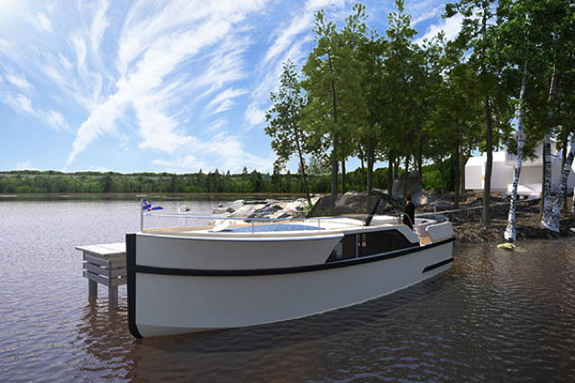open bow electric boat