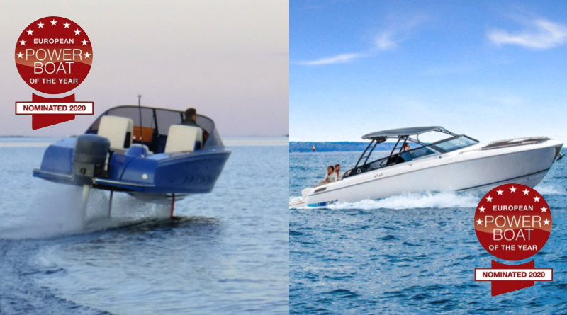 photos of the two electric boats nominated for powerboat of the year at duesseldorf
