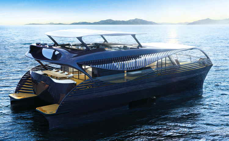 Futuristic SolarImpact yacht