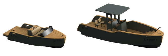 Swedish electric boat in two models: artist renderings of Eelord 6000 and Eelex 8000