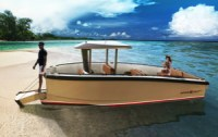 DutchCraft electric tender with bow gangplank