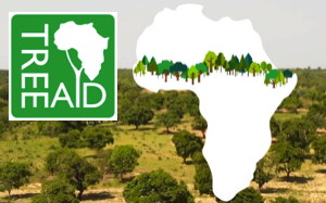TreeAid logo and photos of tree planting in Africa