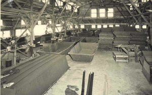 Inside the Correct Craft factory during WWII
