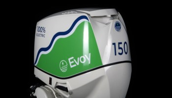 cowl of 150hp electric outboard motor by Evoy