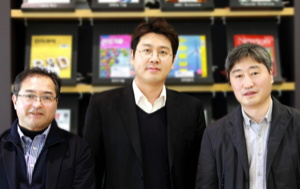 three solid state battery researchers from Samsung
