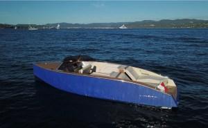 Lanéva electric boat in the Mediterranean Sea