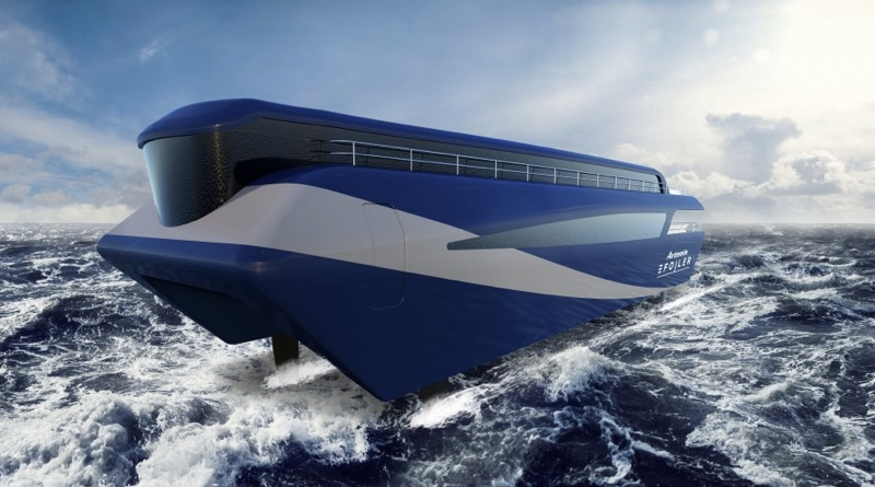 Zero emission ferries will be futuristic catamarans like this artist's conception