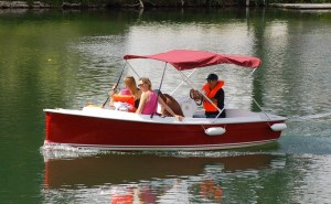 Ruban Bleu Scoop electric boat