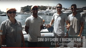 Monaco Solar and Energy Boat Challenge 2020 Eco=Conception Prize winners SBM Offshore
