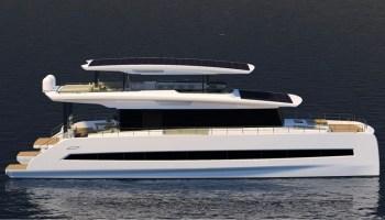 Lithium battery packs power this 80 foot three deck catamaran