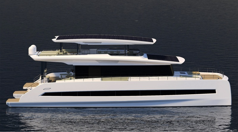Lithium battery packs power this 80 foot three deck catamaran