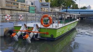 Thailand Torqeedo powered ferry in Bangkok khlong