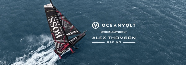 Alex Thomson Vendee Globe yacht with power by Oceanvolt