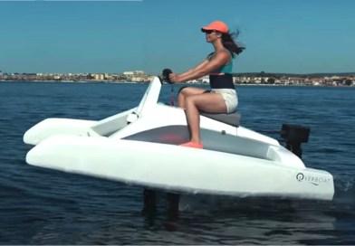 Big awards for electric hydrofoiling catamaran sea bike