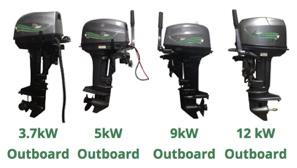 Australia electric outboards range of 4 motors