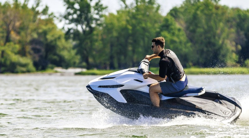 electric jetski maker shows off Orca watercraft speeding across water