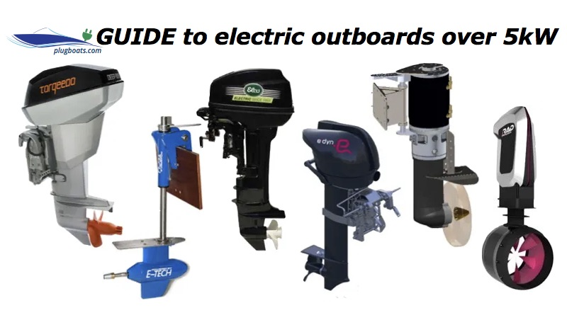 collage of electric outboards motors for boats