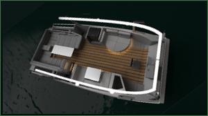 sample deck design on Ethnic line of solar leisure boats