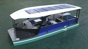 Passenger layout for solar leisure boats