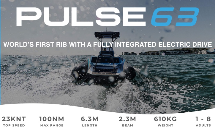 RS Electric Boats Pulse 63 electric RIB
