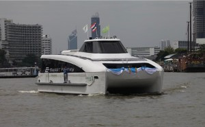 electric boat awards - Electric ferry on Bangkok river