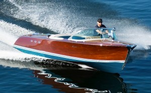 electric classic Riva runabout