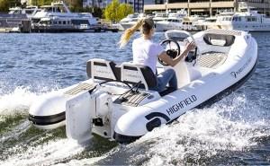 Highfield RIB boat with Pure Water electric motor