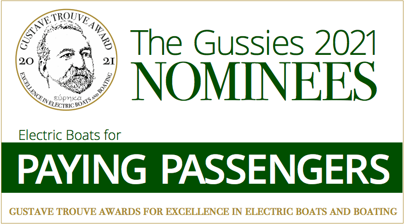 Words: Electric boat awards nominees: Electric Boats for Paying Passengers