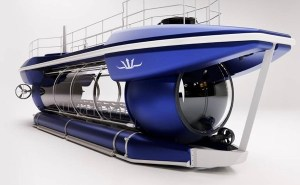Electric submarine with bubble passenger compartment