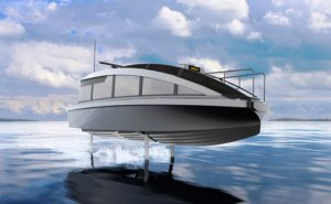 electric hydrofoiling water taxi artist conception