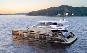 Sunreef yacht with solar panels