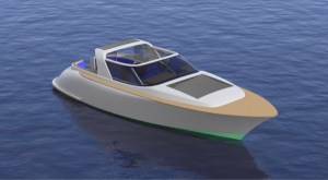 artists conception of electric boat